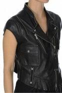 HIGH Rowdy Black Leather Biker Gilet