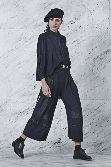Saunter Multi Seam Patchwork Panel Pants