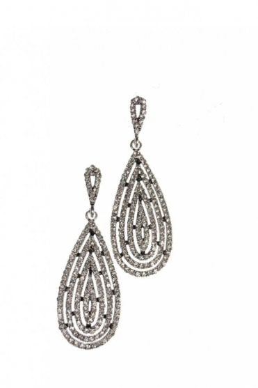 Octavia Crystal Earrings in Silver