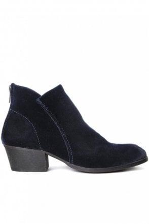 Apisi Velvet Ankle Boot