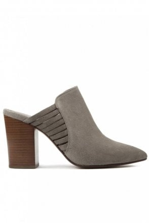 Audny Suede Taupe Mule