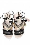 Hudson Bahamas Black Sandal