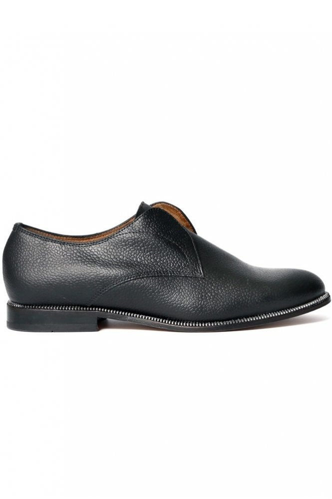 Hudson Charlie May Black Leather Slip On