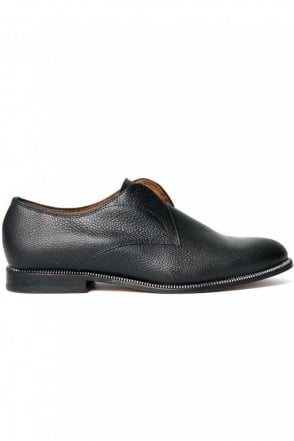 Charlie May Black Leather Slip On