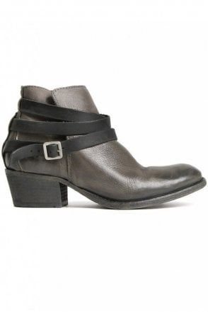 Horrigan Grey Leather Ankle Boot