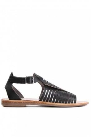 Pansy Black Sandal