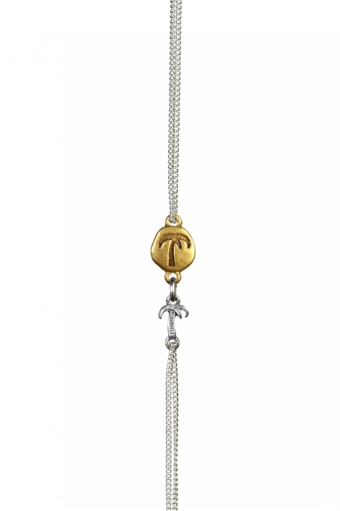 Hultquist Jewellery Bracelet with Gold Coin and Palm Pendant