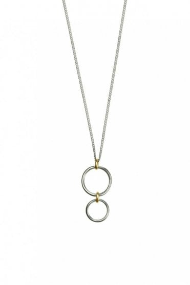 Bridle Bit Gold and Silver Necklace
