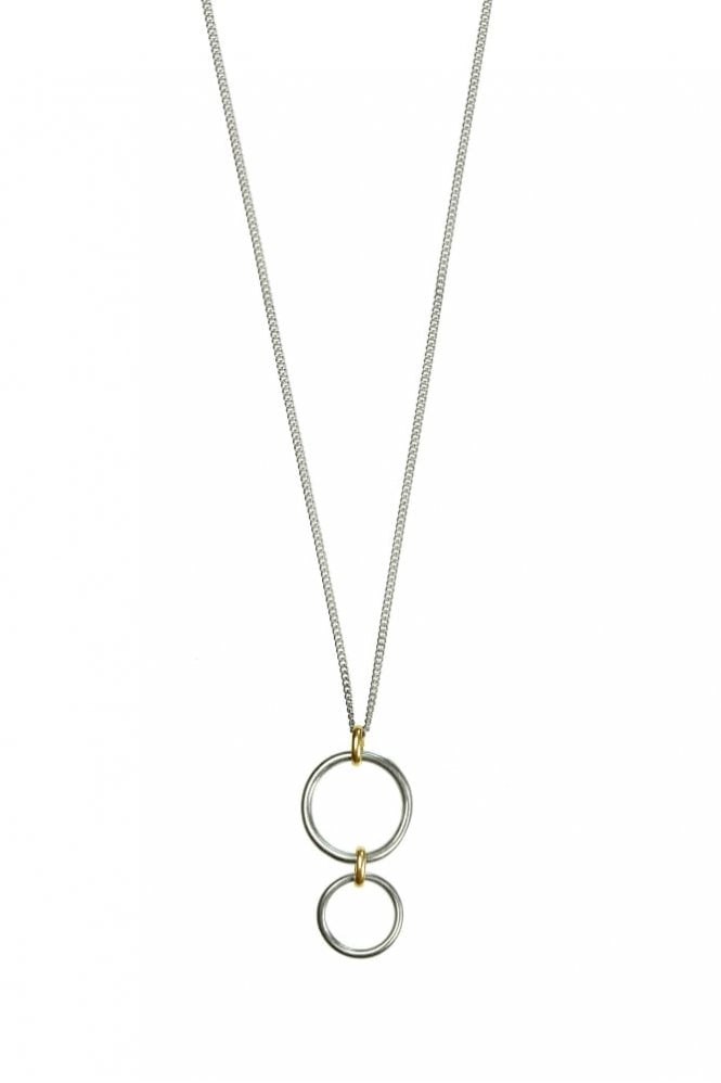 Hultquist Bridle Bit Gold and Silver Pendant Necklace