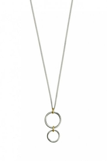 Bridle Bit Gold and Silver Pendant Necklace