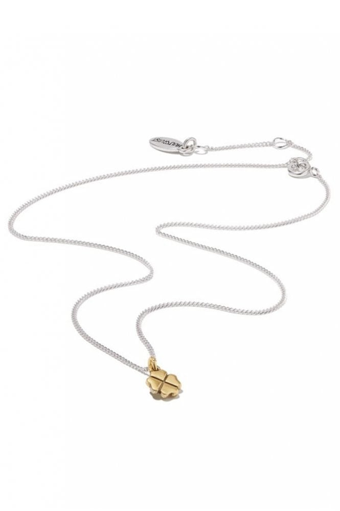 Hultquist Clover Pendant Necklace in Bi Metal