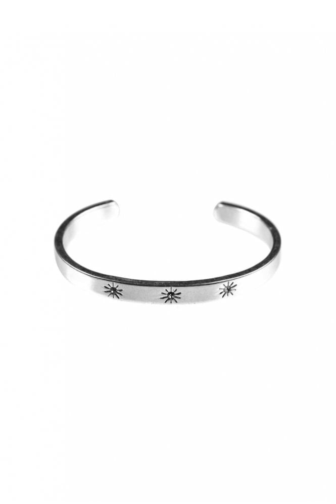 Hultquist Constellation Silver Bangle with Crystals