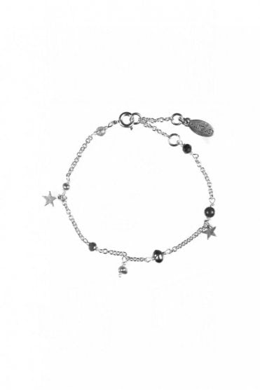 Constellation Silver Star Charm and Beaded Bracelet