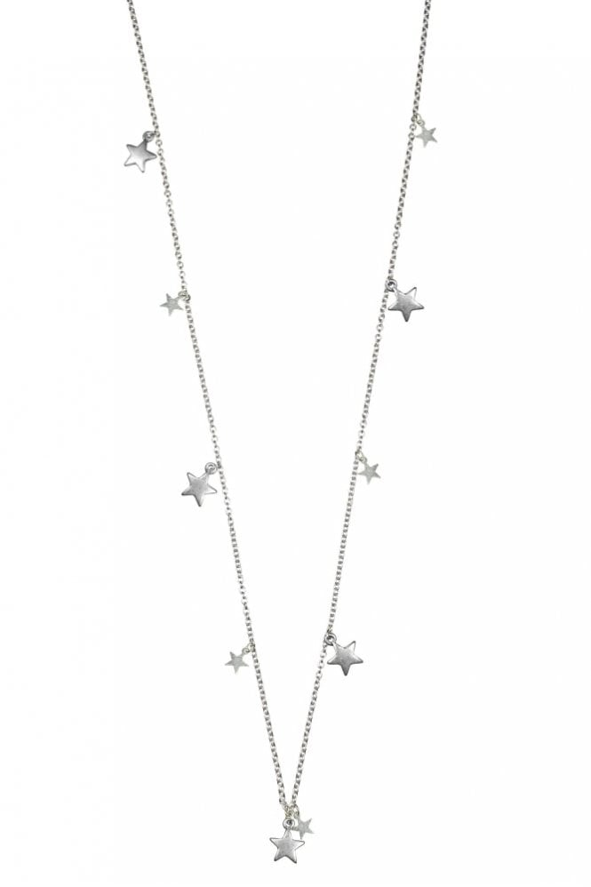 Hultquist Constellation Silver Star Charm Necklace