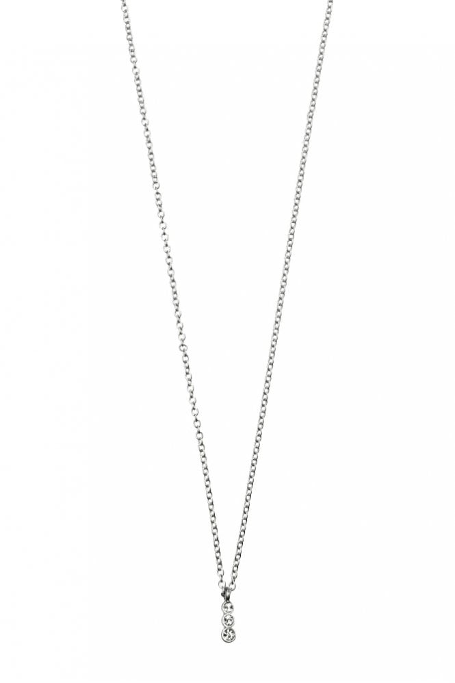 Hultquist Crystal Pendant Necklace in Silver