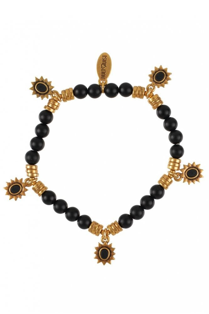 Hultquist Etno Gold and Black Stone Bracelet