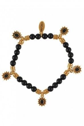 Etno Gold and Black Stone Bracelet