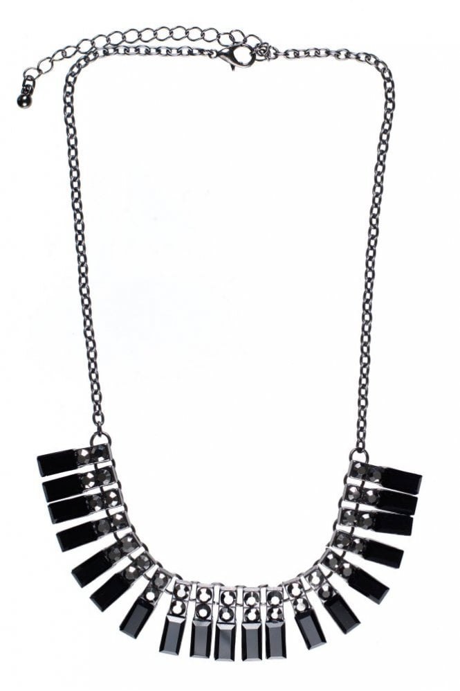 Hultquist Facet Square Hematite Necklace