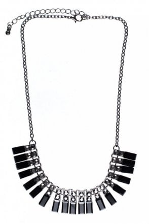 Facet Square Hematite Necklace