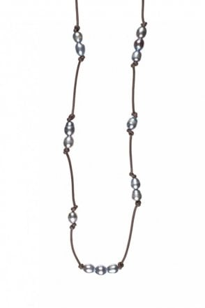 Freshwater Pearl Rose Gold Cord Necklace