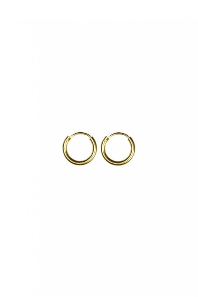 Hultquist Gold 10mm Hoop Earrings