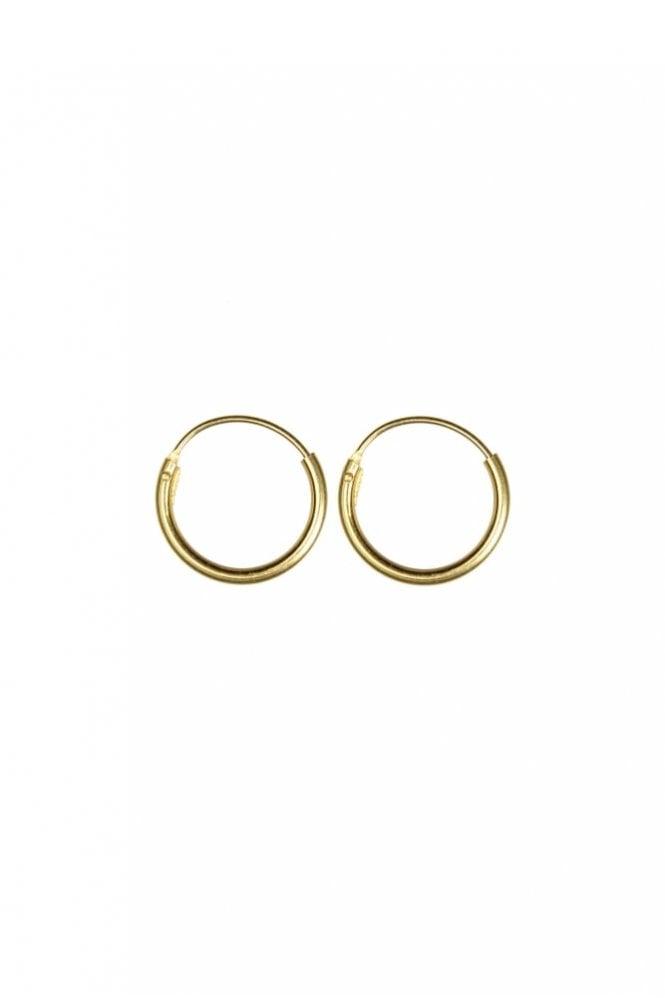 Hultquist Gold 15mm Hoop Earrings