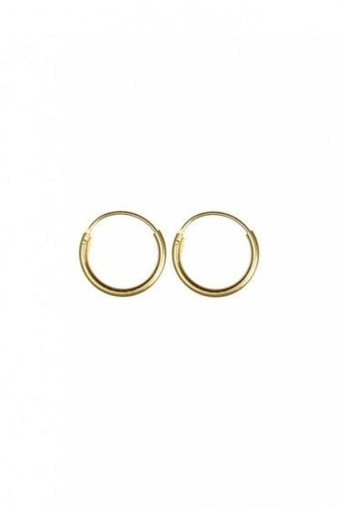 Gold 15mm Hoop Earrings