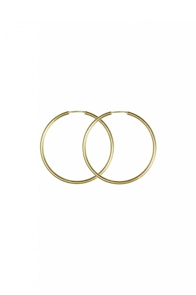 Hultquist Gold 40mm Hoop Earrings