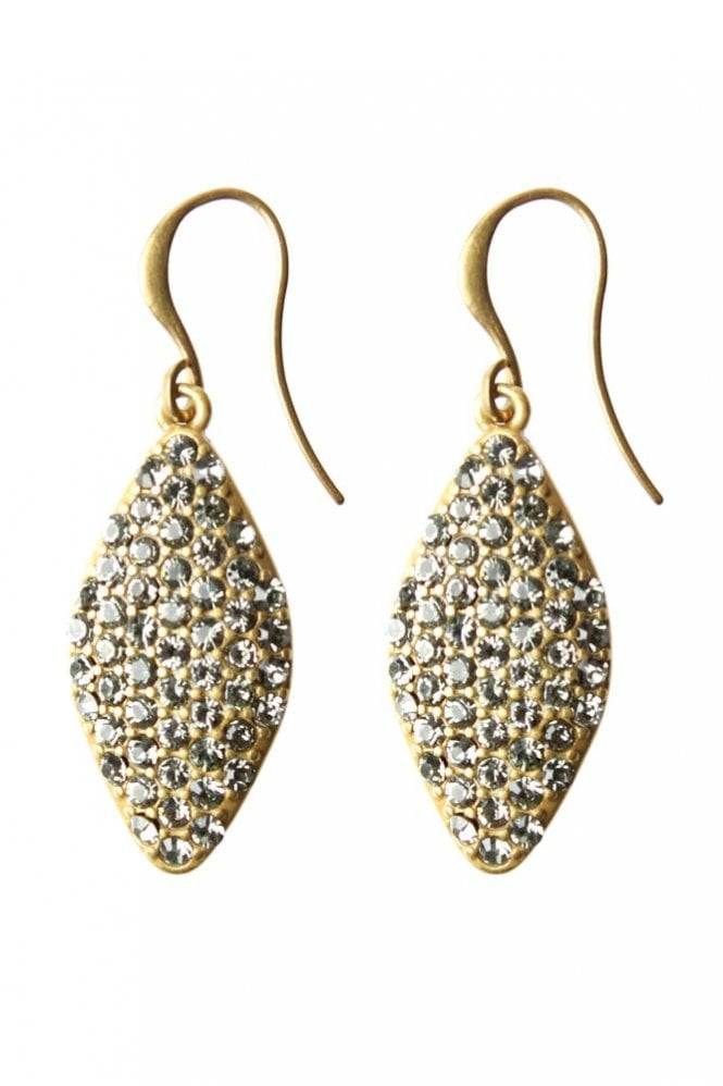 Hultquist Gold Glitter Drop Earrings