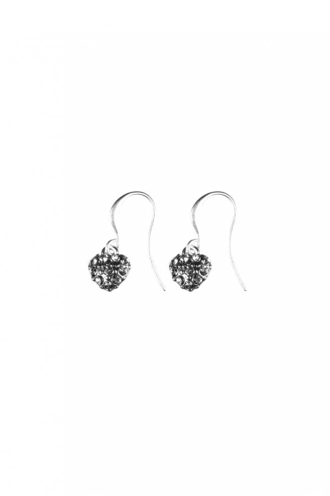 Hultquist Jewellery Hearts Silver Pavé Hook Earrings