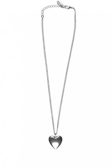 Hearts Silver Pendant Necklace