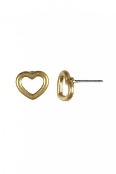 Infinity Heart Gold Earrings