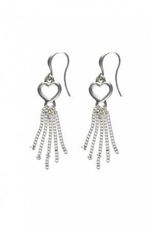 Infinity Heart Hook Earrings