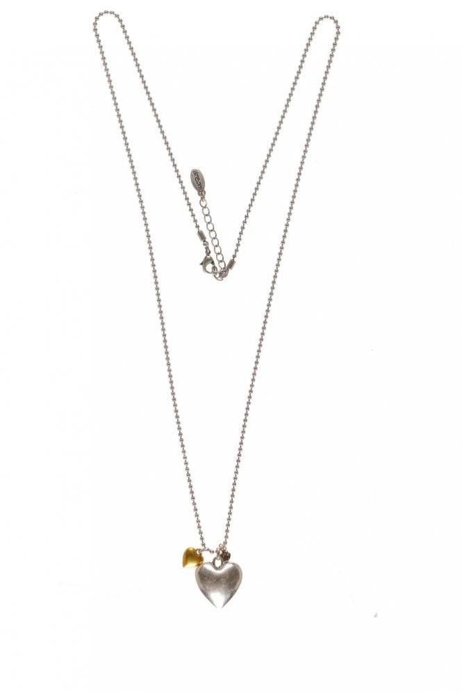 Hultquist Jewellery Classic Style Bi Metal Heart Pendant Necklace