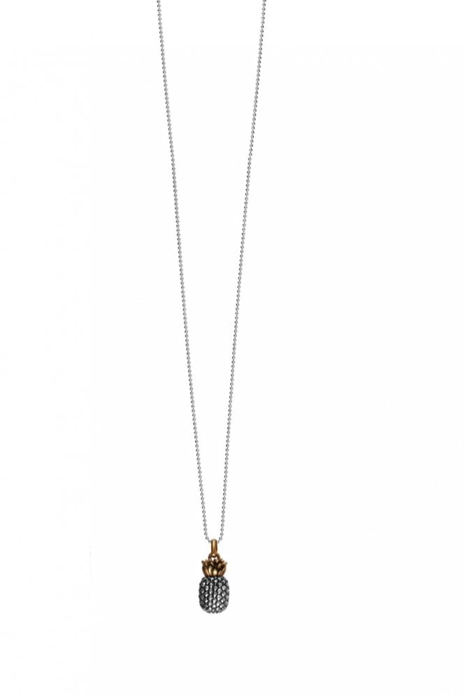 Hultquist Jewellery Classic Style Bi Metal Pineapple Necklace