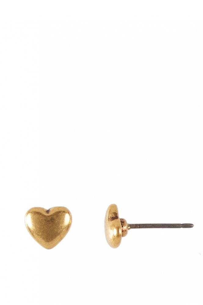 Hultquist Jewellery Classic Style Gold Heart Stud Earrings