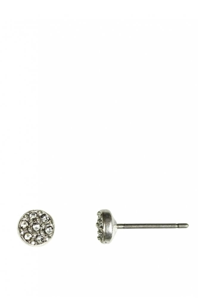 Hultquist Jewellery Classic Style Silver Coin Crystal Earrings