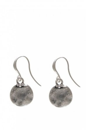 Classic Style Silver Coin Pendant Earrings