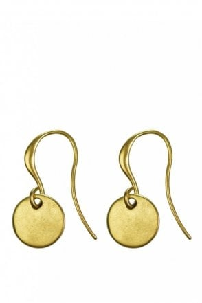Nordic Minimalism Gold Drop Coin Earrings