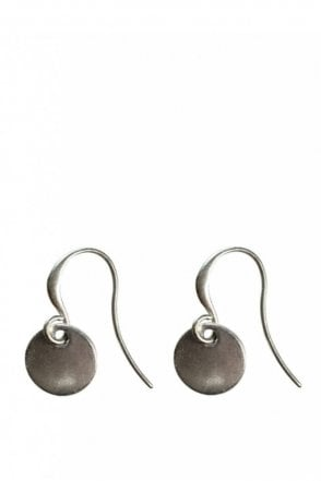 Nordic Minimalism Silver Drop Coin Earrings