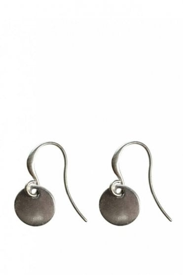 Nordic Minimalism Silver Drop Coin Earrings