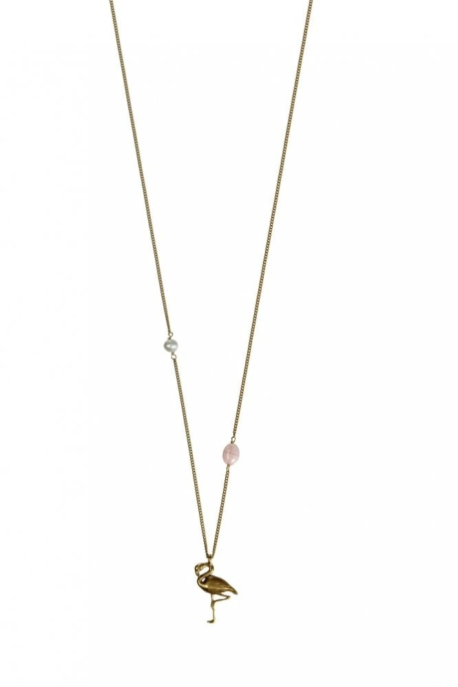 Hultquist Jewellery Tropical Paradise Gold Flamingo Necklace