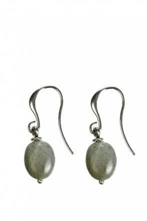 Tropical Paradise Labradorite Silver Drop Earrings