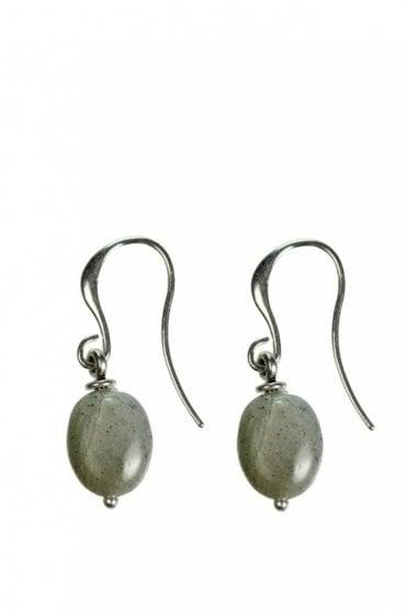 Tropical Paradise Labradorite Silver Drop Earrings