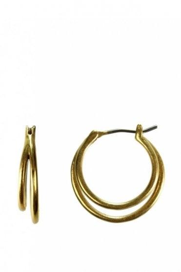 Urban Luxe Gold Double Hoop Earrings