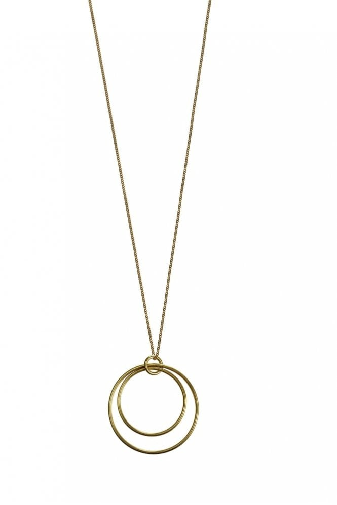 Hultquist Jewellery Urban Luxe Gold Double Hoop Necklace