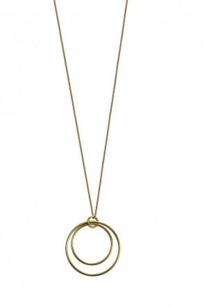 Urban Luxe Gold Double Hoop Necklace