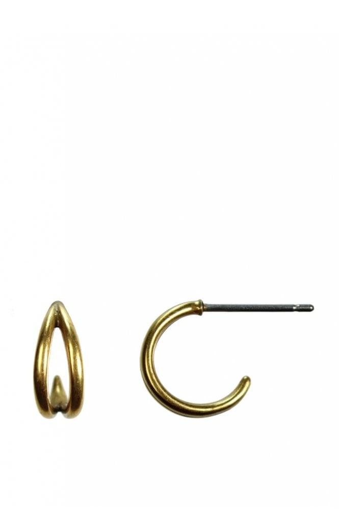 Hultquist Jewellery Urban Luxe Gold Hoop Earrings