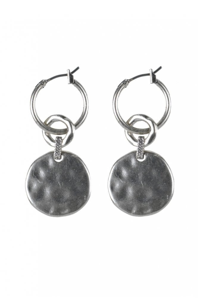 Hultquist Linking Coin Silver Coin Earrings