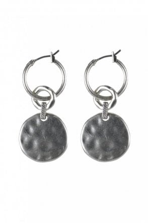 Linking Coin Silver Coin Earrings